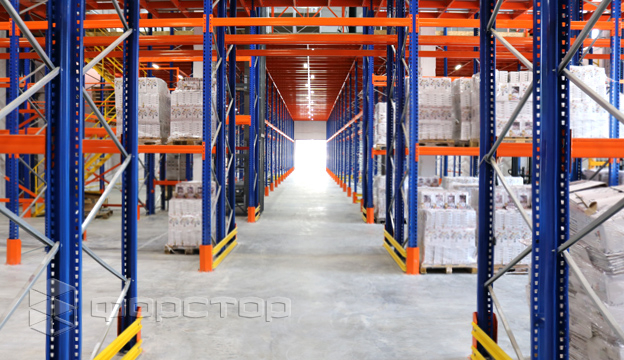 920 pallet places at the first warehouse level